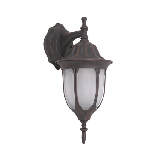 Trans Globe Lighting 4046PL-RT One Light Energy Saving Fluorescent Outdoor Exterior Wall Lantern in Rust Finish