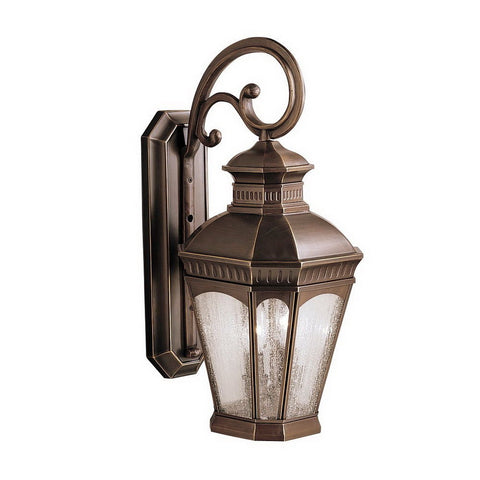 Aztec 39907 By Kichler Lighting Elgin Collection Two Light Outdoor Wall Lantern in Burnished Bronze Finish - Quality Discount Lighting