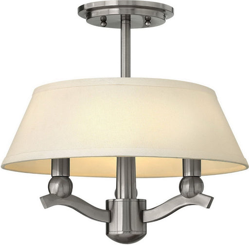 Hinkley Lighting 4611BN Whitney Collection Three Light Convertible Semi Flush or Hanging Pendant Chandelier in Brushed Nickel Finish - Discount Lighting Fixtures