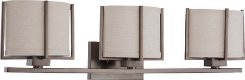 Nuvo Lighting 60-4453 Portia Collection Three Light Bath Vanity Wall in Hazel Bronze Finish - Quality Discount Lighting