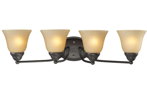 Z-Lite Lighting 2114-4V Athena Collection Four Light Bath Vanity Wall Mount in Bronze Finish