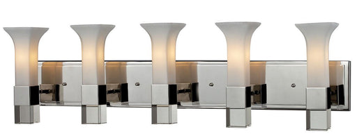Z-Lite Lighting 611-5V-CH Lotus Collection Five Light Bath Vanity Wall Mount in Polished Chrome Finish