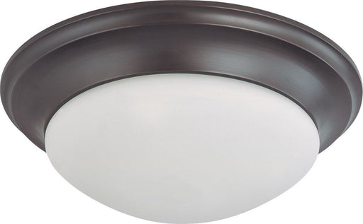 Nuvo Lighting 60-3367 Signature Collection Three Light Energy Star Efficient GU24 Flush Ceiling Mount in Mahogany Bronze Finish