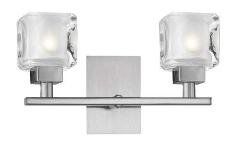Eglo Lighting 86569A Tanga Collection Two Light Bath Wall Mount in Matte Nickel Finish - Quality Discount Lighting