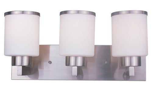 Z-Lite Lighting 312-3V-BN Cosmopolitan Collection Three Light Bath Vanity Wall Mount in Brushed Nickel Finish