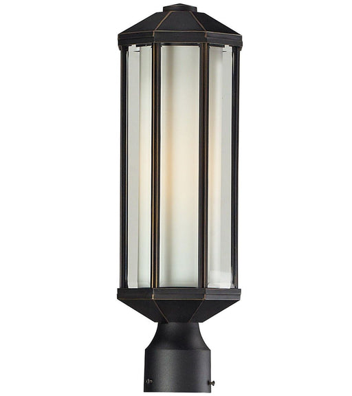 Z-Lite Lighting 526PH-ORB Cylex Collection One Light Outdoor Exterior Post Lantern in Oil Rubbed Bronze Finish