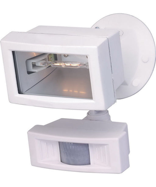 Nuvo Lighting 76-504 One Light Exterior Outdoor Motion Mini Halogen Flood in White Finish - Quality Discount Lighting
