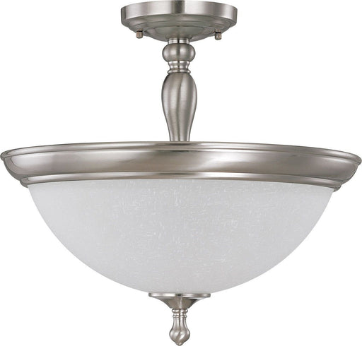 Nuvo Lighting 60-2786 Bella Collection Three Light Semi Flush Ceiling in Brushed Nickel Finish