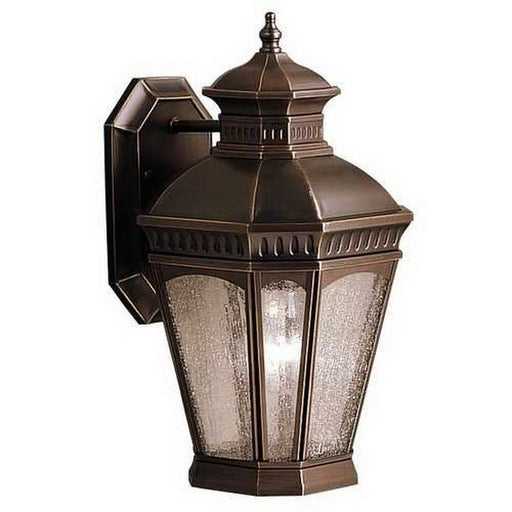 Aztec 39905 By Kichler Lighting Elgin Collection One Light Outdoor Wall Lantern in Burnished Bronze Finish - Quality Discount Lighting