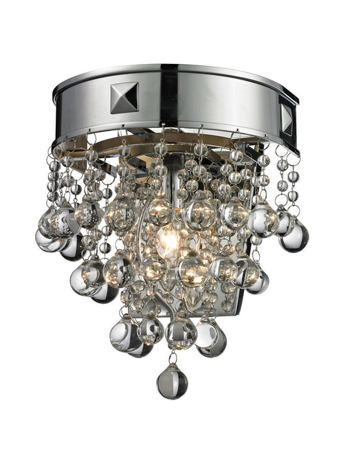 Z-Lite Lighting 612-1S-CH Iluva Collection One Light Wall Sconce in Polished Chrome Finish