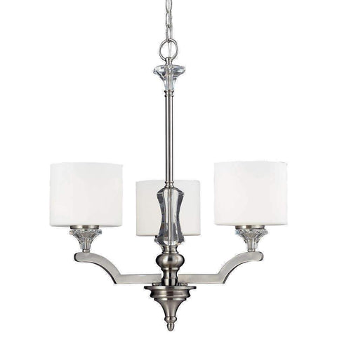 Z-Lite Lighting 2000-3 Avignon Collection Three Light Hanging Chandelier in Brushed Nickel Finish