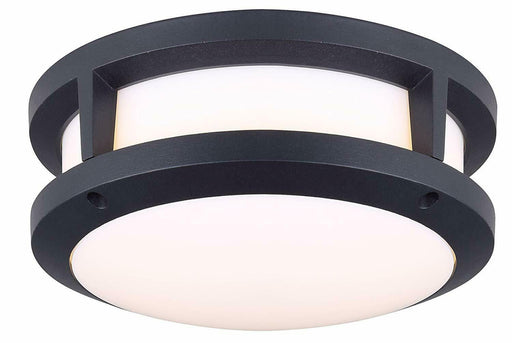 Rainbow Lighting 129A10BK Integrated LED Flush Mount Ceiling Light in Black Finish