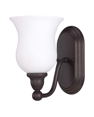 Nuvo Lighting 60-2437 Glenwood Collection One Light Energy Star Efficient Fluorescent GU24 Wall Sconce in Sudbury Bronze Finish - Quality Discount Lighting