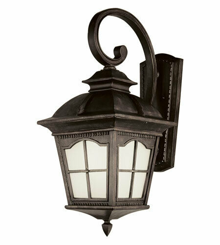 Trans Globe Lighting PL-45424AR-LED Chesapeake Collection One Light Exterior Outdoor Wall Lantern in Antique Rust Finish
