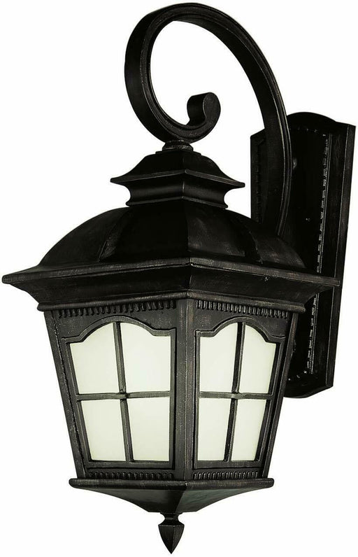 Trans Globe Lighting PL-45424BK-LED Chesapeake Collection One Light Exterior Outdoor Wall Lantern in Black Finish