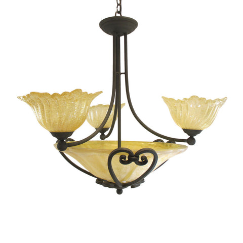 Kalco Lighting 5468 RB Illucio Collection Six Light Chandelier in Rembrandt Bronze Finish - Quality Discount Lighting