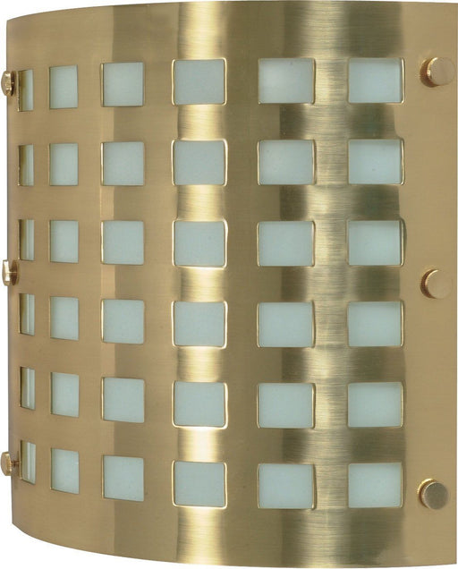 Nuvo Lighting 60-941 Two Light Energy Star Rated GU24 Fluorescent Wall Sconce in Brushed Brass Finish - Quality Discount Lighting