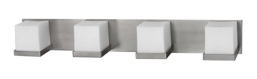 Rainbow Lighting MRV413SNSCT Monroe Collection Four Light Energy Efficient GU24 Vanity Wall Mount in Satin Nickel Finish