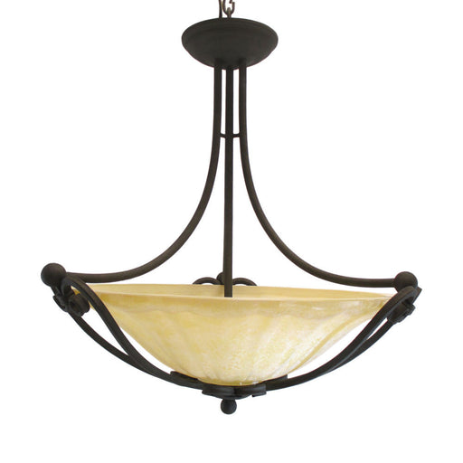 Kalco Lighting 5466 RB Illucio Collection Three Light Chandelier in Rembrandt Bronze Finish - Quality Discount Lighting