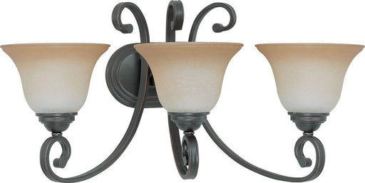 Nuvo Lighting 60-2757 Montgomery Collection Three Light Bath Vanity Wall Fixture in Sudbury Bronze Finish
