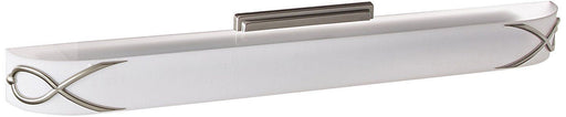 Rainbow Lighting HZV139SNE5T Hudson Collection One Light Energy Efficient Fluorescent Vanity Wall Mount in Satin Nickel Finish