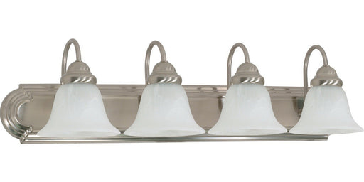 Rainbow Lighting 60-322 Four Light Bath Wall Fixture in Brushed Nickel Finish - Quality Discount Lighting