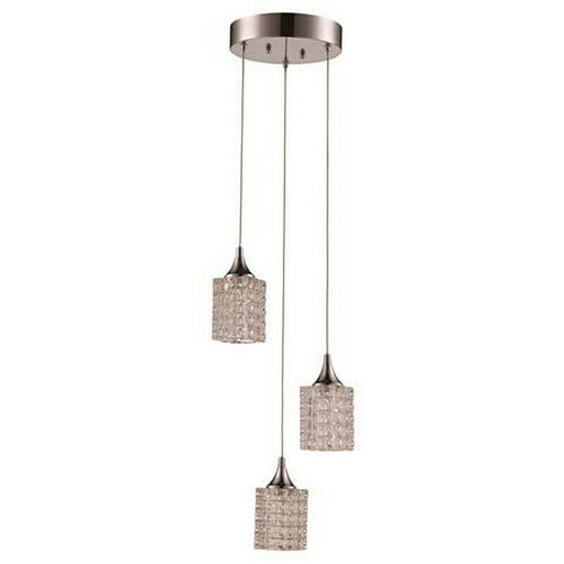 Trans Globe Lighting CB-MDN-1266-3 Three Light Pendant Chandelier in Polished Chrome Finish