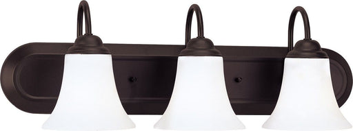 Nuvo Lighting 60-1934 Dupont Collection Three Light Energy Star Efficient GU24 Bath Vanity Wall Fixture in Dark Chocolate Bronze Finish