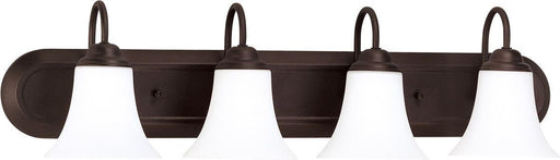 Nuvo Lighting 60-1935 Dupont Collection Four Light Energy Star Efficient GU24 Bath Vanity Wall Fixture in Dark Chocolate Bronze Finish