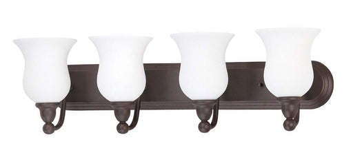 Nuvo Lighting 60-1795 Glenwood Collection Four Light Bath Vanity Wall Mount in Sudbury Bronze Finish - Quality Discount Lighting