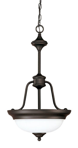 Nuvo Lighting 60-1789 Glenwood Collection Two Light Hanging Pendant Chandelier in Sudbury Bronze Finish - Quality Discount Lighting