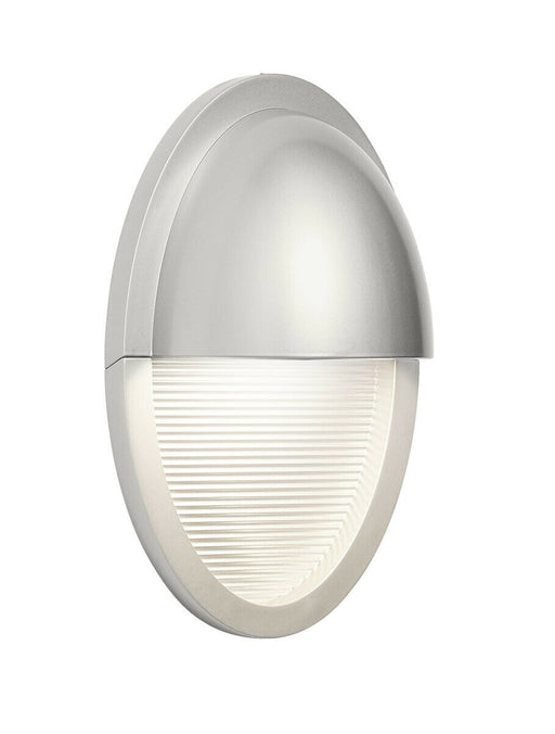 Elan by Kichler Lighting 83553 Conti Collection LED Exterior Outdoor Wall Sconce in Painted Platinum Finish