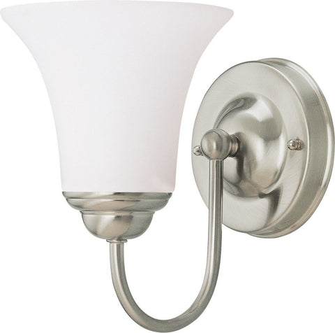 Nuvo Lighting 60-1912 Dupont Collection One Light Energy Star Efficient GU24 Wall Sconce in Brushed Nickel Finish