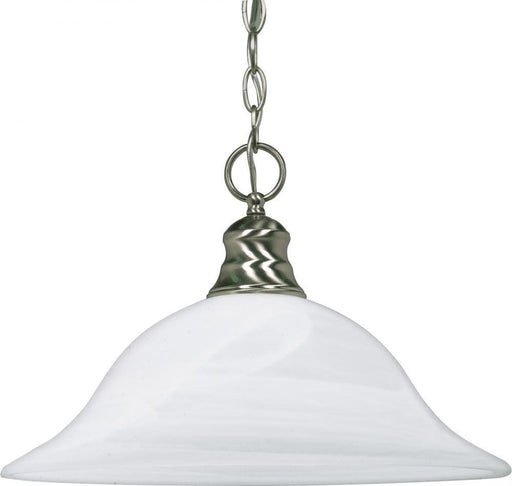 Rainbow Lighting 60-390 One Light Pendant Chandelier in Brushed Nickel Finish - Quality Discount Lighting