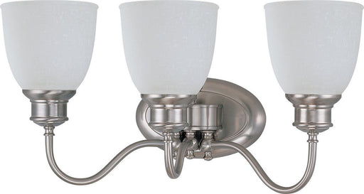Nuvo Lighting 60-2799 Bella Collection Three Light Bath Vanity Wall Mount in Brushed Nickel Finish