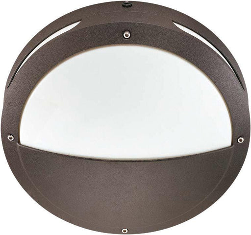 Nuvo Lighting 60-2548 Hudson Collection Two Light Energy Efficient GU24 Exterior Outdoor Wall or Ceiling Fixture in Architectural Bronze Finish