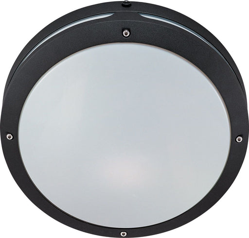 Nuvo Lighting 60-2545 Hudson Collection Two Light Energy Efficient GU24 Exterior Outdoor Wall or Ceiling Fixture in Matte Black Finish