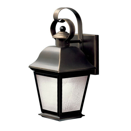 Aztec by Kichler Lighting 10907OZ-LED Mount Vernon Collection One Light LED Exterior Outdoor Wall Lantern in Olde Bronze Finish