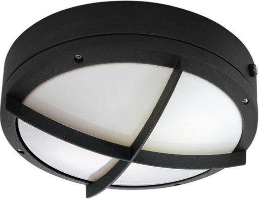 Nuvo Lighting 60-2543 Hudson Collection Two Light Energy Efficient GU24 Exterior Outdoor Wall or Ceiling Fixture in Matte Black Finish