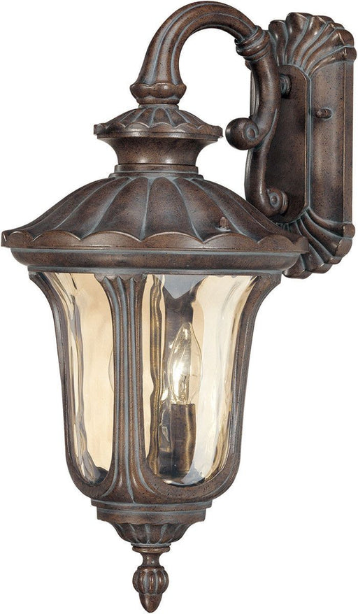 Nuvo Lighting 60-2004 Beaumont Collection Two Light Exterior Outdoor Wall Lantern in Fruitwood Finish