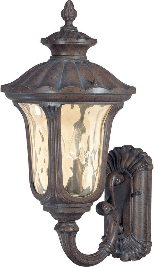 Nuvo Lighting 60-2003 Beaumont Collection Two Light Exterior Outdoor Wall Lantern in Fruitwood Finish