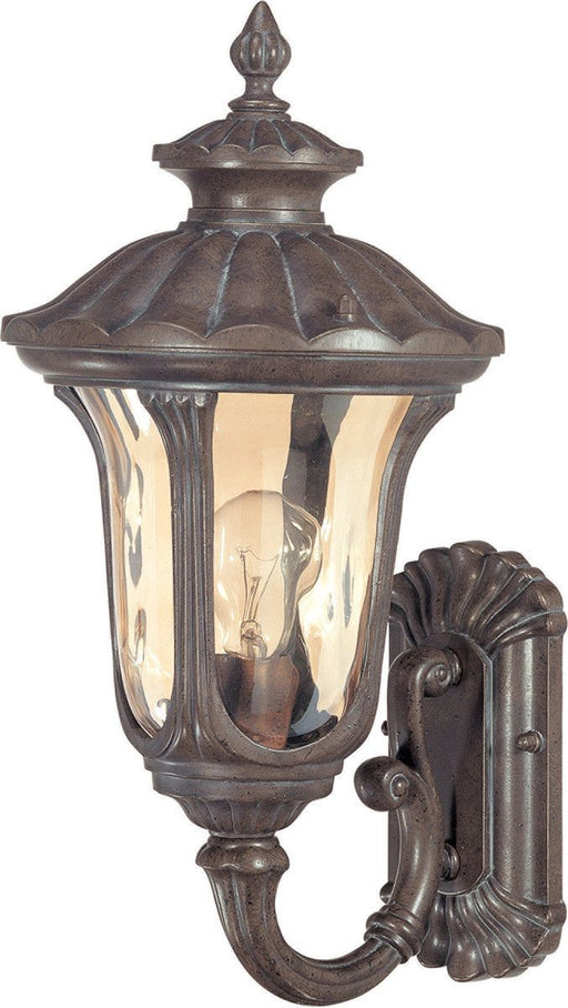 Nuvo Lighting 60-2005 Beaumont Collection One Light Exterior Outdoor Wall Lantern in Fruitwood Finish