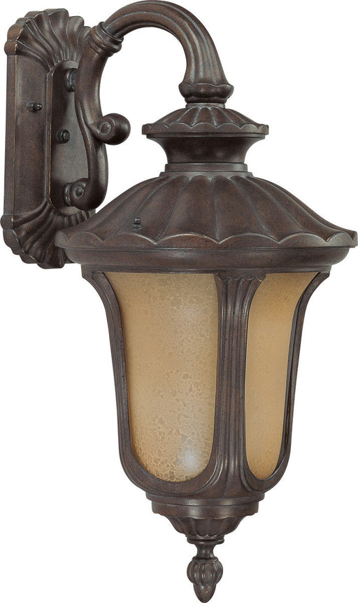 Nuvo Lighting 60-3906 Beaumont Collection One Light Energy Star Efficient Exterior Outdoor Wall Lantern in Fruitwood Finish