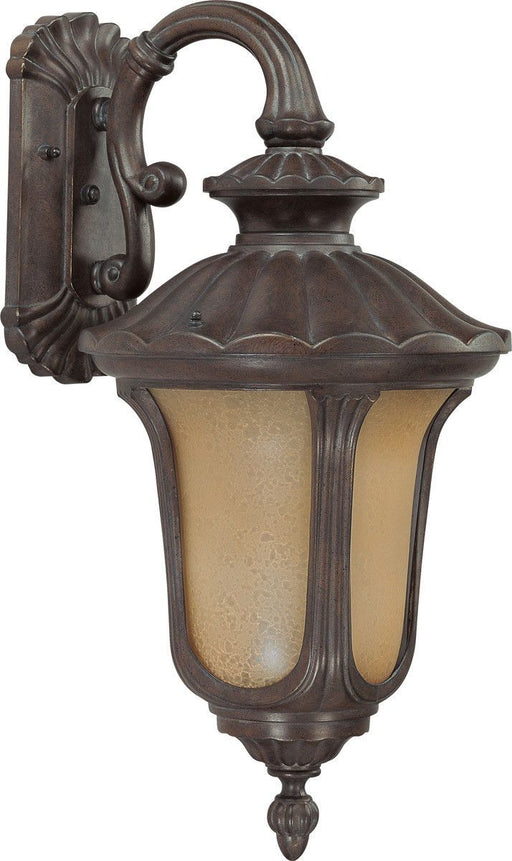 Nuvo Lighting 60-3902 Beaumont Collection One Light Energy Star Efficient GU24 Exterior Outdoor Wall Lantern in Fruitwood Finish