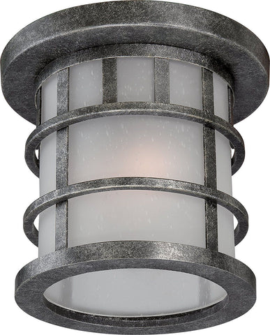 Nuvo Lighting 60-5736 Manor Collection One Light Energy Star GU24 Exterior Outdoor Ceilng Lantern in Aged Silver Finish