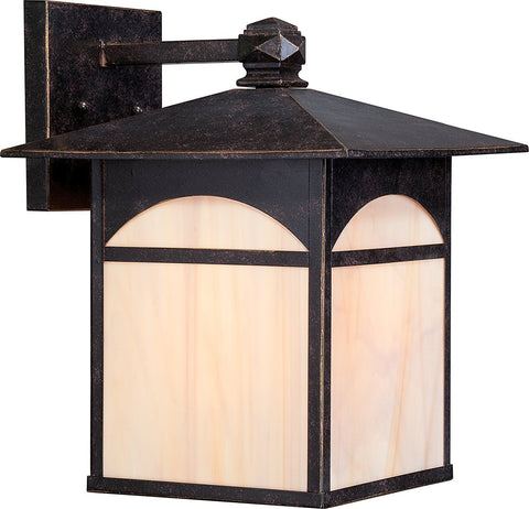 Nuvo Lighting 60-5753 Canyon Collection One Light Energy Efficient GU24 Exterior Outdoor Wall Lantern in Umber Bronze Finish