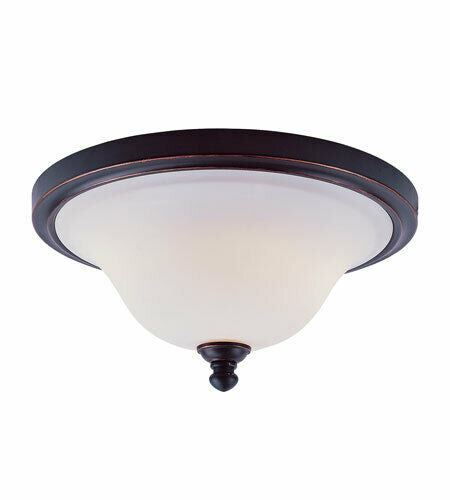 Trans Globe Lighting 16015 ROB Two Light Flush Ceiling Fixture in Rubbed Oil Bronze Finish