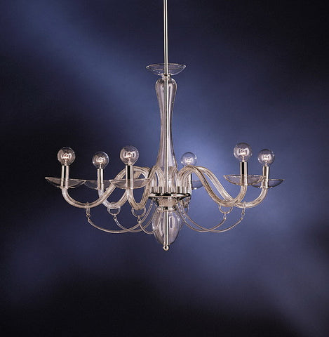 Kichler Lighting 1637 CH Six Light Hanging Chandelier in Polished Chrome Finish - Quality Discount Lighting