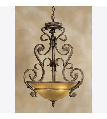 Quoizel Lighting FM1661ML Fairmont Collection Three Light Pendant Chandelier in Malaga Finish - Quality Discount Lighting