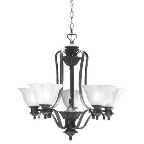 Kichler Lighting S1716 TGP Five Light Chandelier in Antique Pewter with Tuscan Gold Accents - Quality Discount Lighting